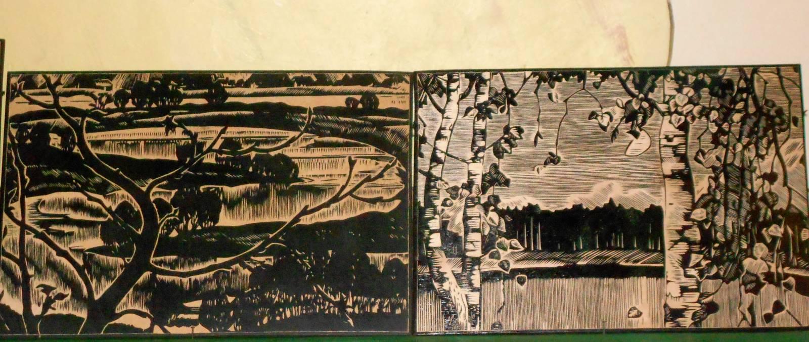 Гравюра на дереве в виде виньеток и других рисунков